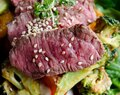 Wrap it up baby – Beetroot with Steak, Vegetables and Peanut Sauce
