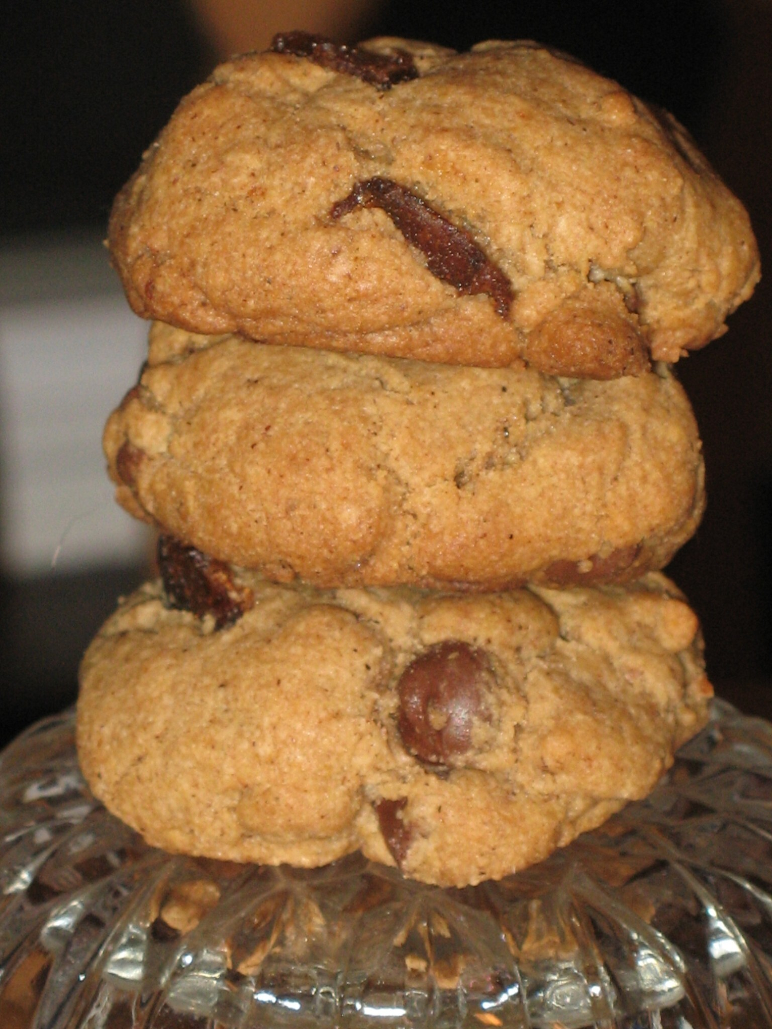 Browned Butter Chocolate Chip Cookies with Candied Bacon