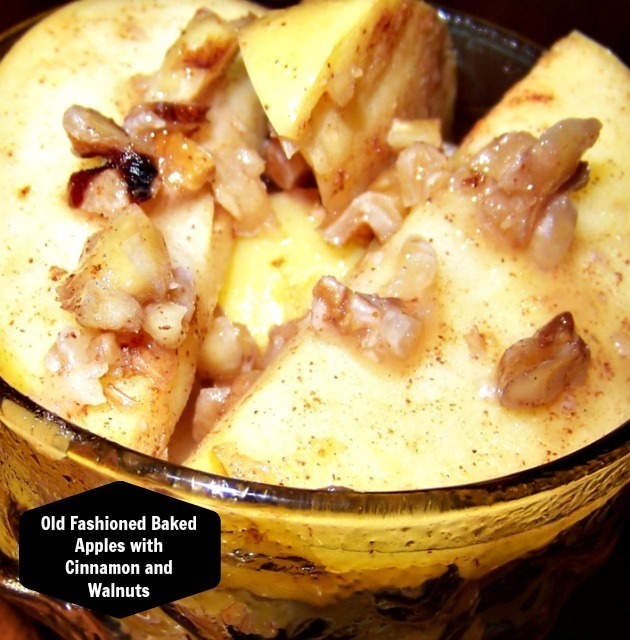 Old Fashioned Baked Apples with Cinnamon and Walnuts