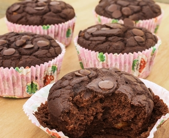 Brownie muffins (sin mantequilla) {no-butter}