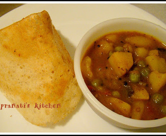 Greenpeas & potato curry (W/O Onion garlic)