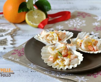 Antipasto di mare in conchiglia