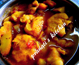 Pakudi tarkari (PAKODI curry)
