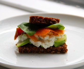 Avocado, Cottage Cheese & Smoked Salmon Sandwich ála Cuckoos Nest