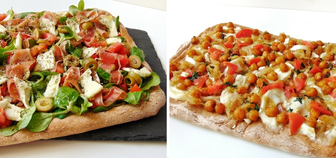 Pizza con harina de espelta integral + 2 ideas para pizzas originales