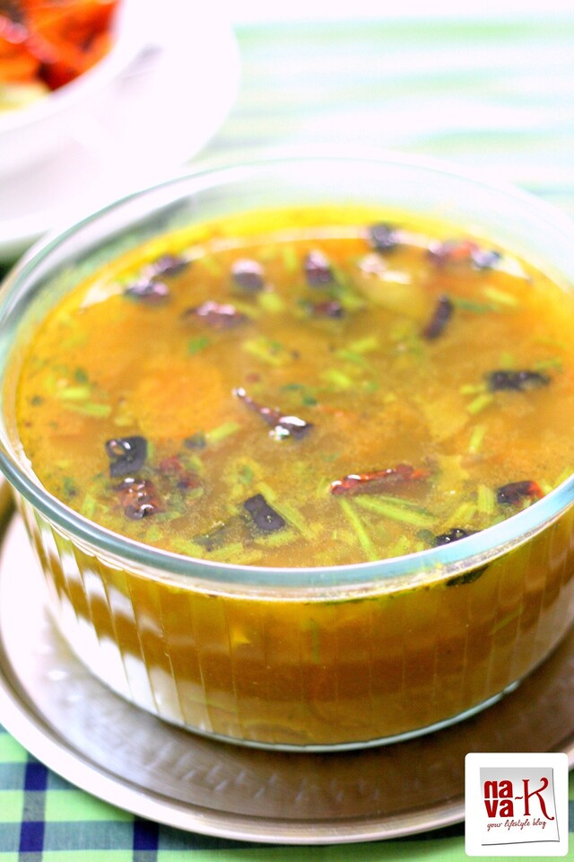 Rasam - Tangy Peppery Indian Soup (home made rasam podi/powder)