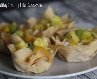 Healthy Fruity Filo Baskets