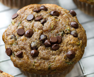 flourless chocolate chip zucchini banana muffins
