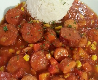 Sausage goulash – with recipe / Würstlgulasch – mit Rezept