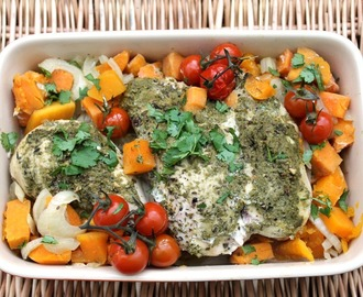 Slow Cooker Pesto and Sweet Potato Chicken