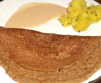Spicy mixed dal dosa with potatoes
