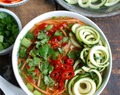 Spicy Asian Chicken Zoodle Soup