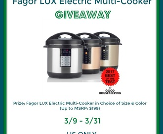 Fagor LUX Electric Multi-Cooker Giveaway