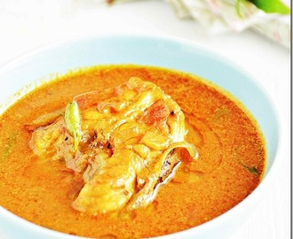Tilapia fish curry with Coconut / Meen kuzhambu with coconut