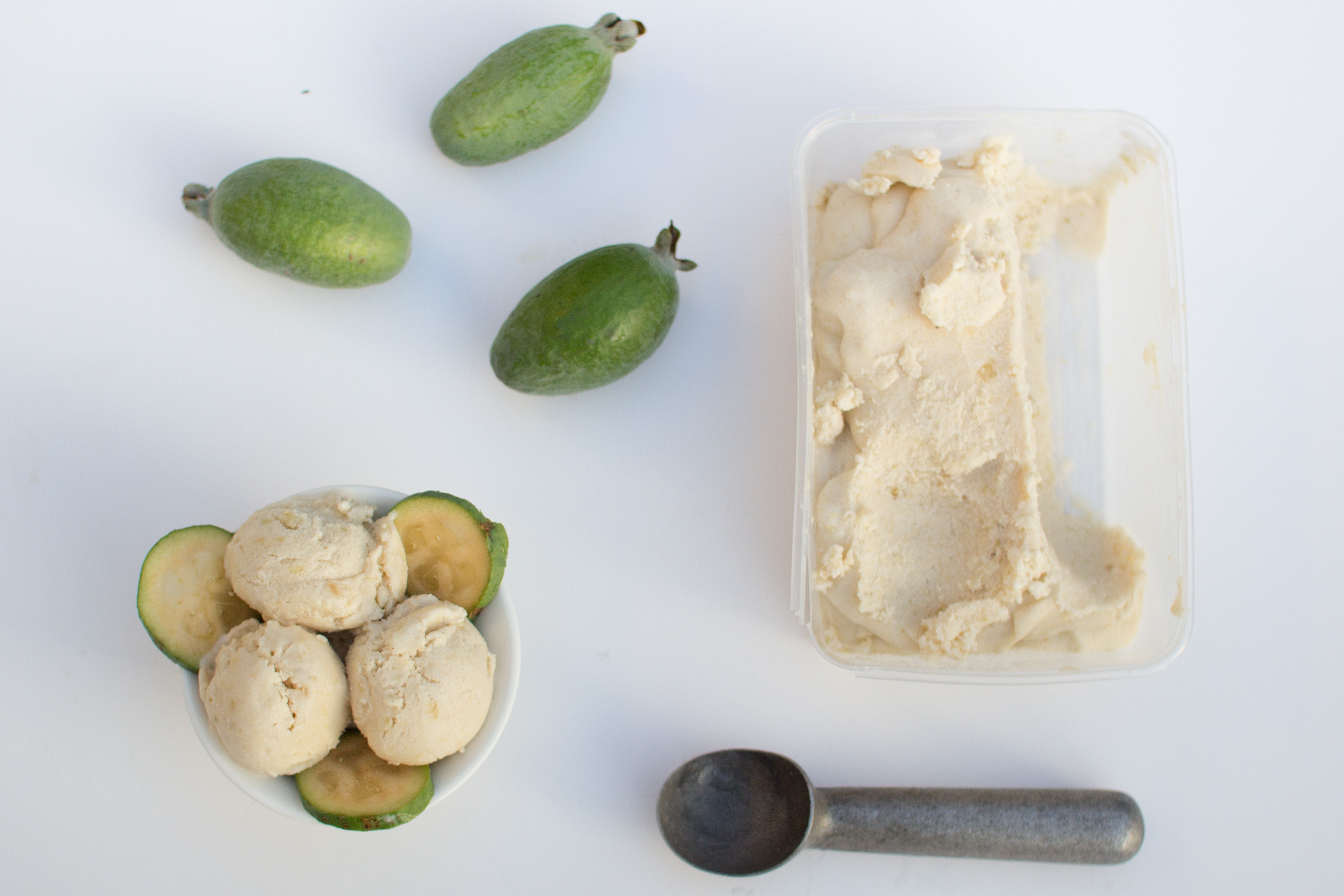 Instant feijoa ice cream
