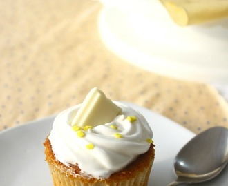 Cupcakes de Chocolate Blanco