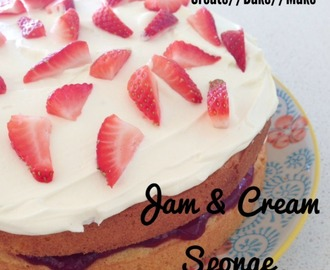 Jam and Cream Sponge – Back to Basics