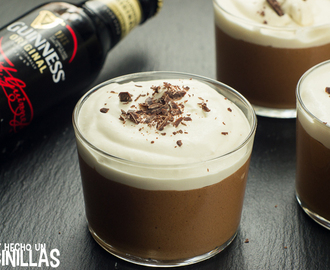 Receta de mousse de chocolate y Guinness.