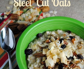 Healthy slow cooker steel cut oats