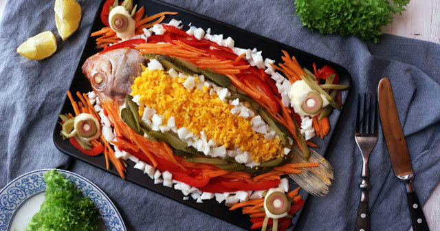 Steamed Fish with Mayonnaise