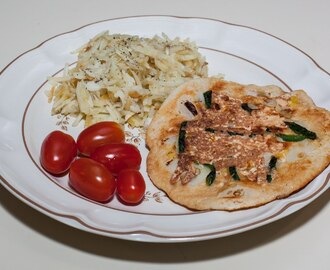 Uttapam and Hashed Brown Potatoes (just for me)