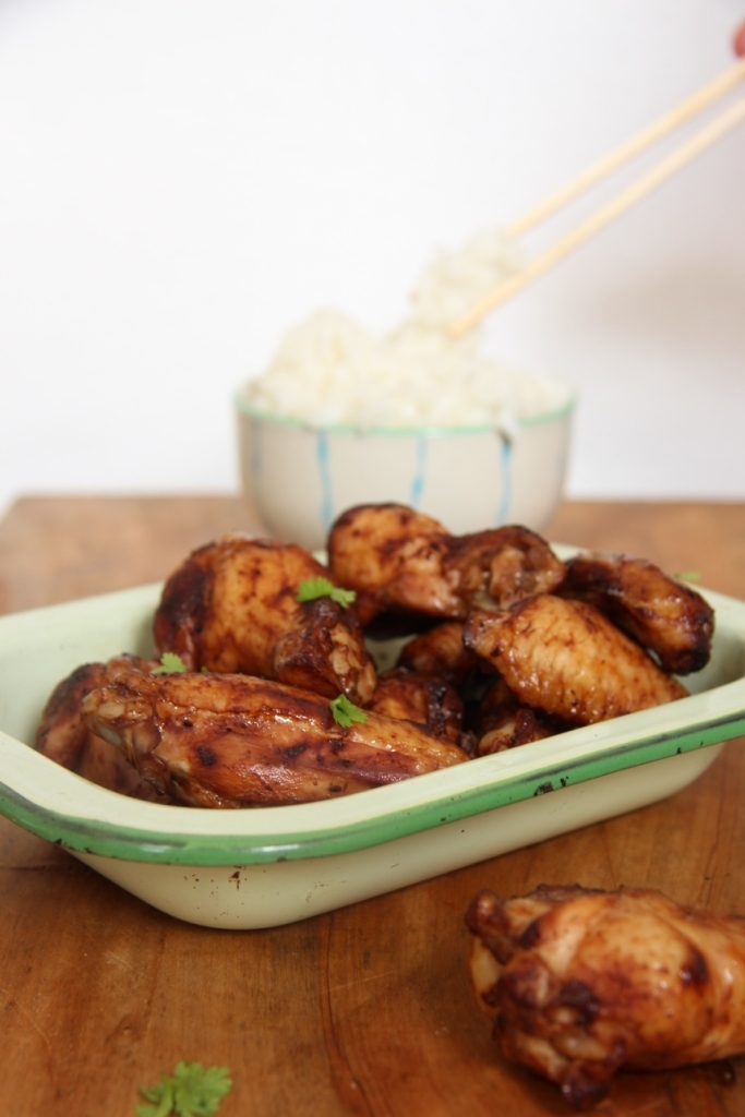 Miso baked chicken nibbles