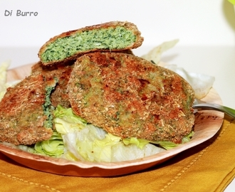 Hamburger di pollo e spinaci