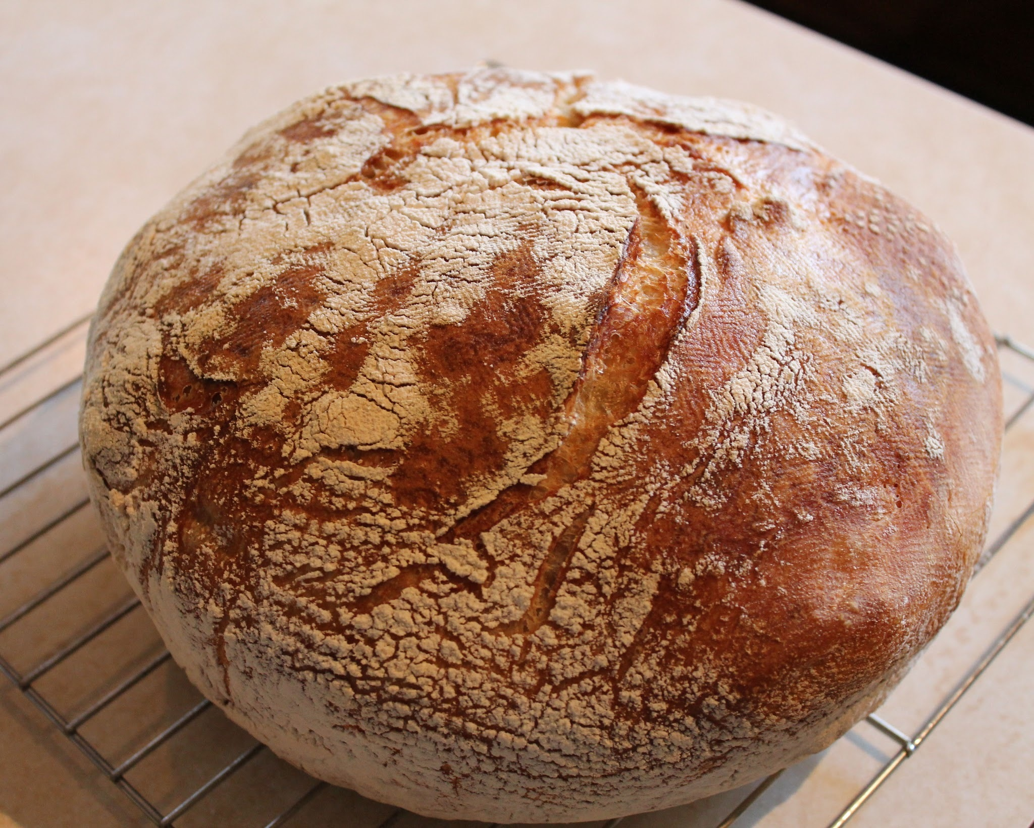 No-Knead Bread with Herb Infused Dipping Oil