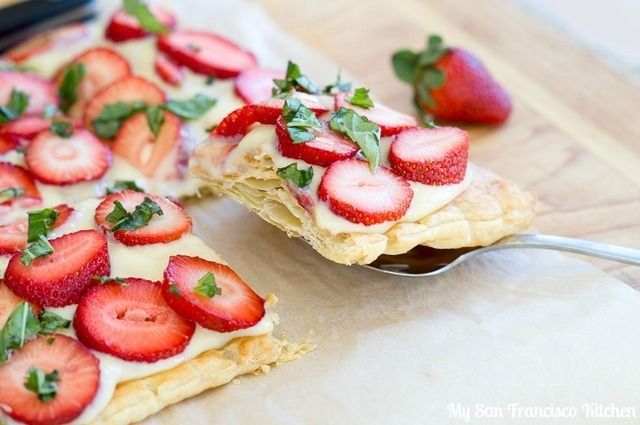 Strawberry Basil Puff Pastry