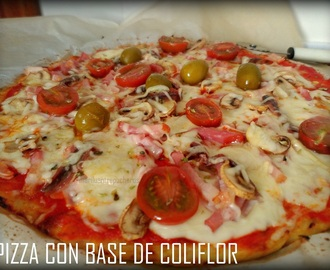 PIZZA (CON BASE DE COLIFLOR)