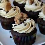 Cupcakes de chocolate con Galletas y chispas