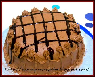 Double layer chocolate cake with Chocolate frosting..