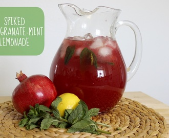 Summer Drink Series: Spiked Pomegranate-Mint Lemonade