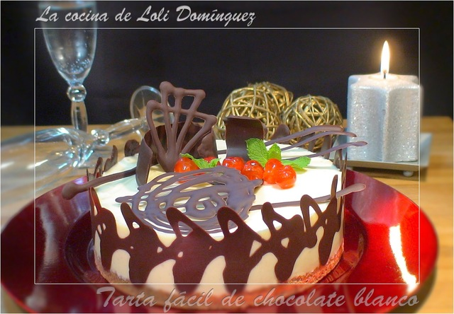 Tarta fácil de chocolate blanco