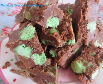 Chocolate and Mint Biscuit Slice