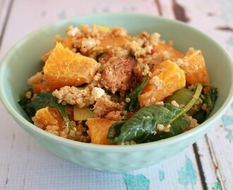 Chicken Quinoa Salad with Orange, Pumpkin & Feta
