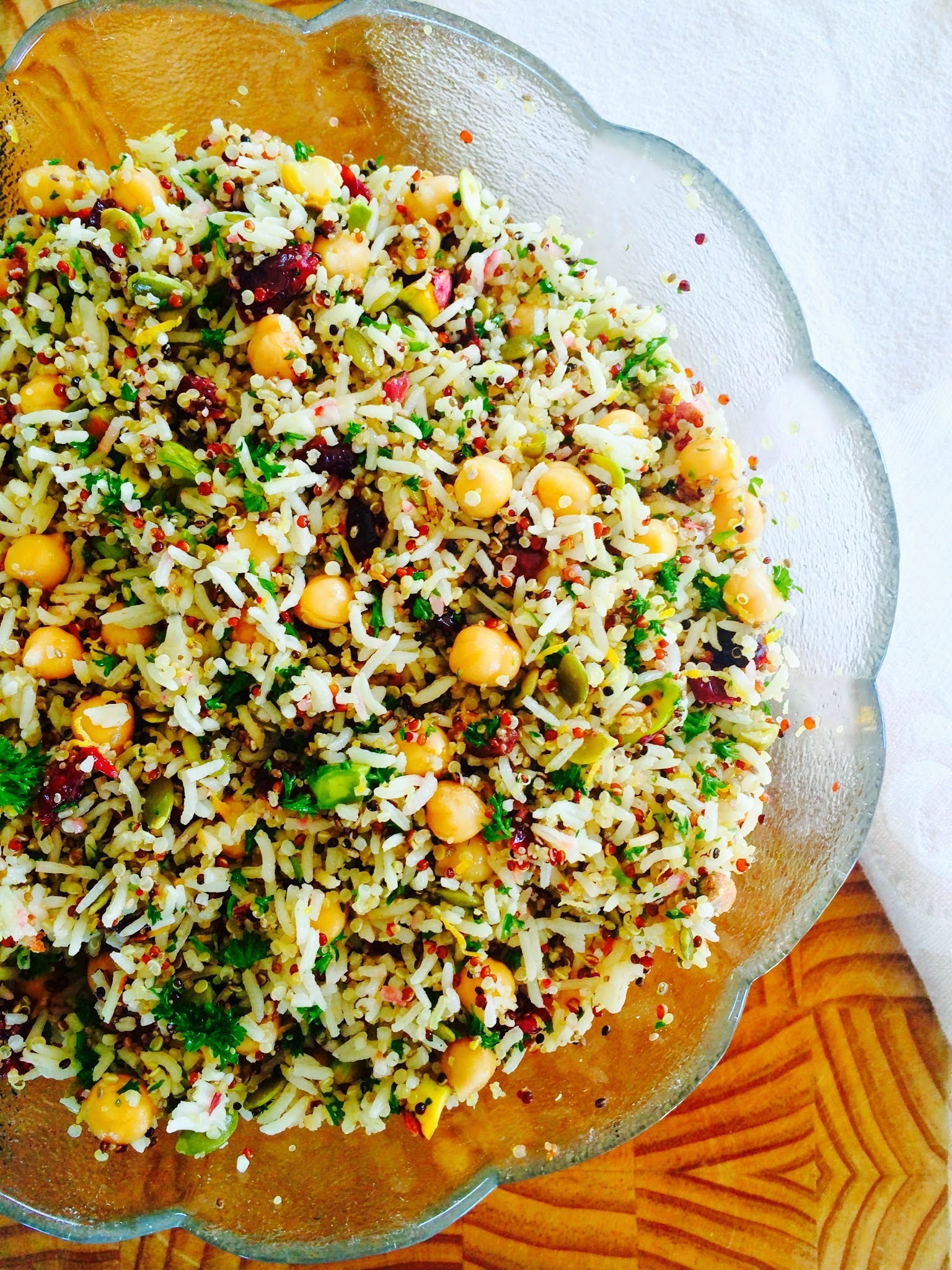 Quinoa & Brown Rice Parsley Salad (Gluten Free & Diary Free).