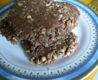 Chewy, no bake, chocolate chip, peanut butter and oatmeal cookies.