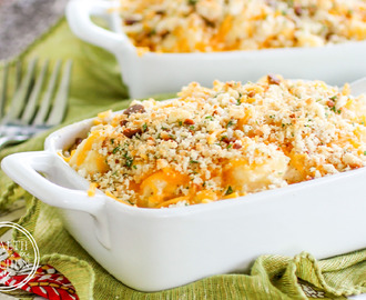 Low-Carb Cauliflower Mac-N-Cheese {Primal, Gluten-Free & Keto}