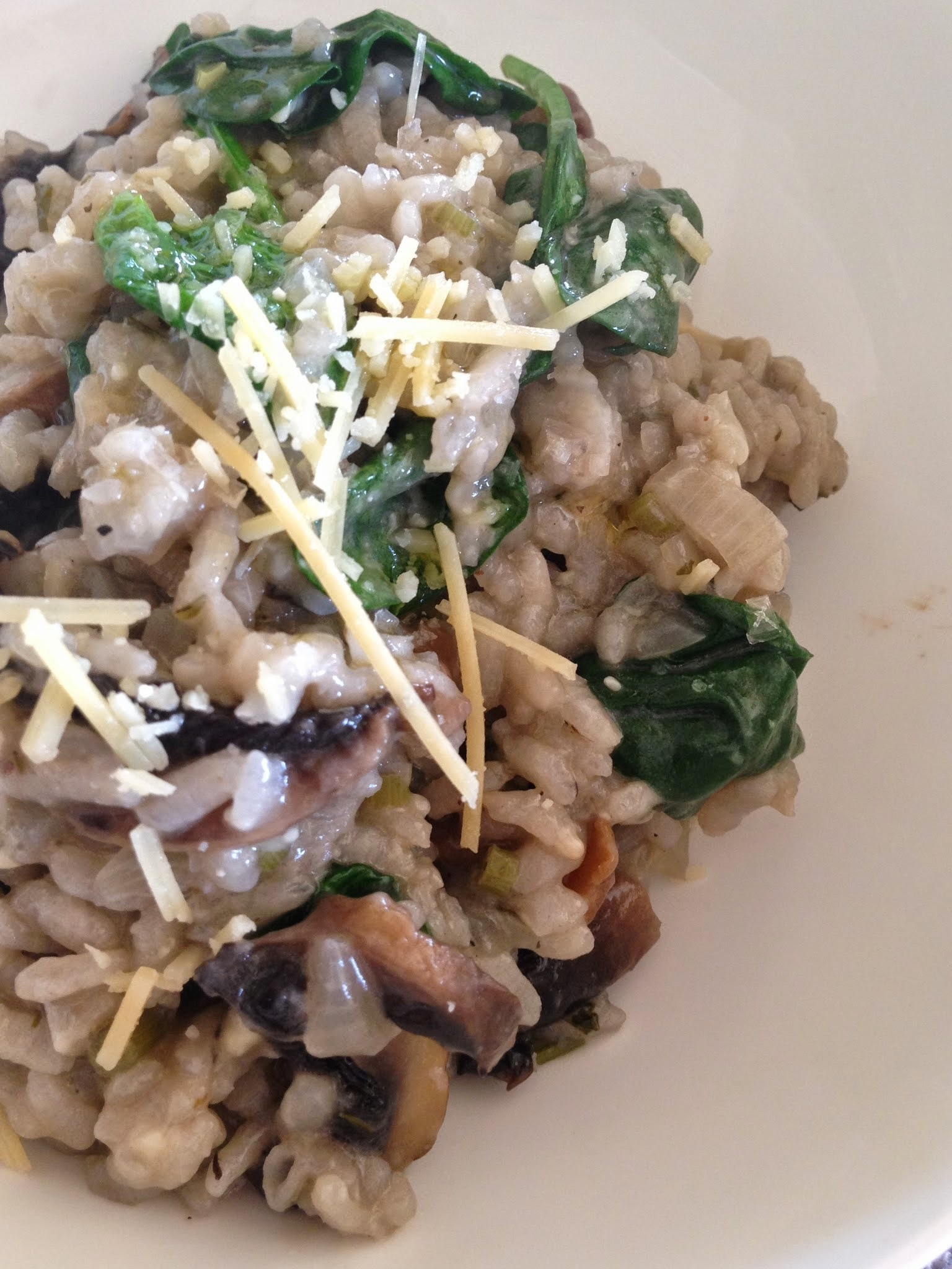 Mushroom & Spinach Risotto the VZUG Combi-Steam way!