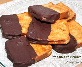 Torrijas con chocolate