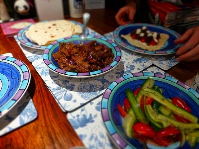 Slow Roasted Greek Lamb with Home Made Flat Bread