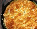 Cast Iron Chicken Pot Pie with Puff Pastry Crust Recipe