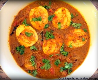 Egg Curry with Coconut Gravy