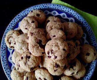 Galletas de aceite y pepitas de chocolate Cookies