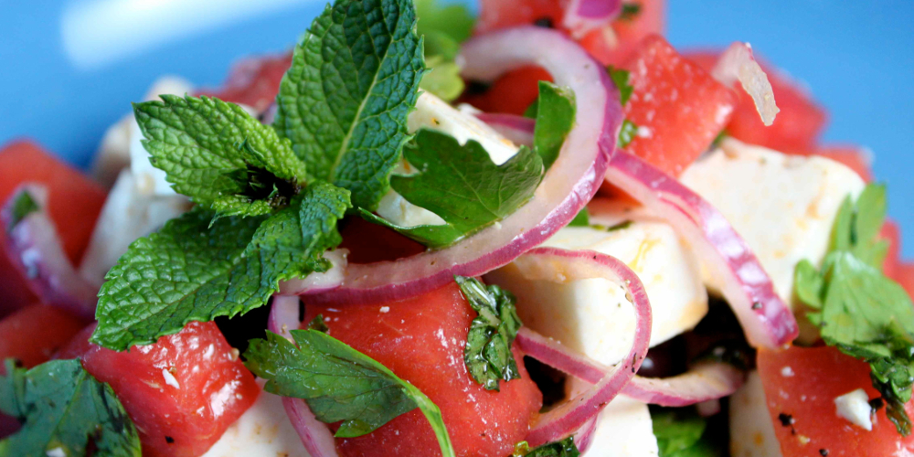 Feta Watermelon Salad is a Summer Starter