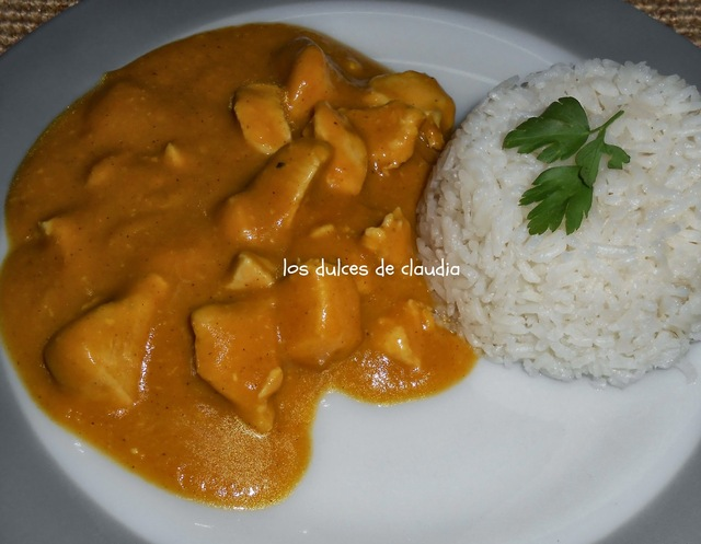 Curry de pollo (a mi manera)