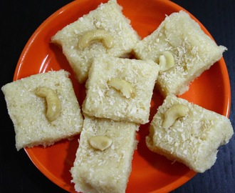 Coconut Barfi (Coconut Fudge)