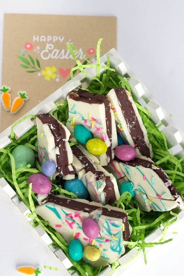 Easter Truffle Bark