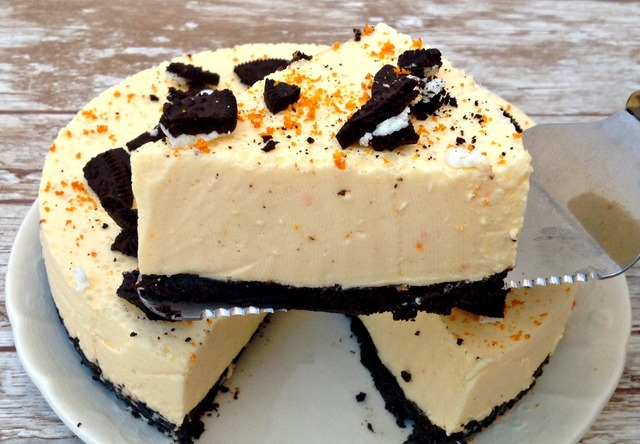 Cheesecake de mandarina y galletas OREO
